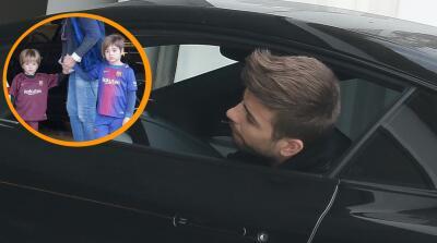 Tras un corto viaje a Londres, Piqué regresa a Barcelona con sus hijos, pero... ¿dónde está Shakira?