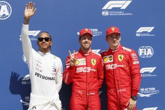 En fotos: Sebastian Vettel logra su primera pole del año, segunda de Ferrari en la temporada