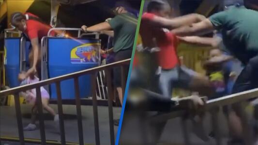 """""""Le dieron una paliza"""": Operador de un juego reacciona contra una mujer y una multitud la defiende"""