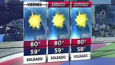 Cielos despejados y condiciones calurosas durante este viernes en el Área de la Bahía