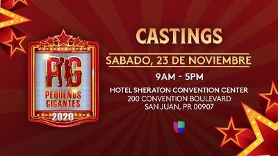 ¡Participa y conviértete en la estrella de Pequeños Gigantes 2020!