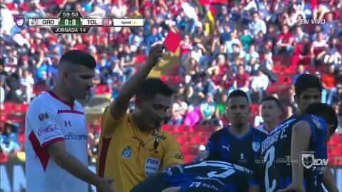 ¡Expulsión! El árbitro saca la roja directa a Richard Ruíz