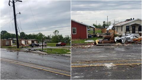 """""""Los vientos fueron demasiado fuertes"""": así fue la destrucción que dejó el tornado que azotó la comunidad de Franklin"""