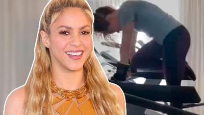 Mira la singular forma en que Shakira se esfuerza para bajar los cuatro platos de pasta que se comió