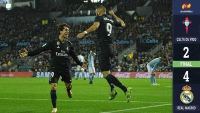 El Real Madrid de Solari se enchufó a costa del Celta de Mohamed