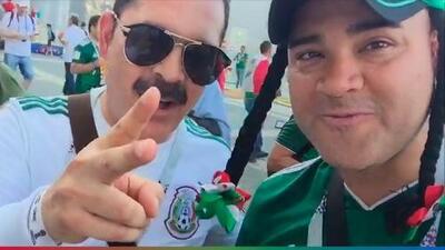 El Pelón se encontró a Mario Quintero de Los Tucanes antes del partido México-Suecia