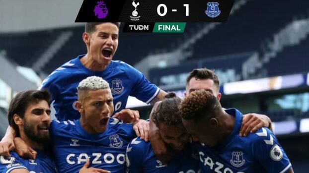 Everton y James Rodríguez debutan con victoria ante Tottenham
