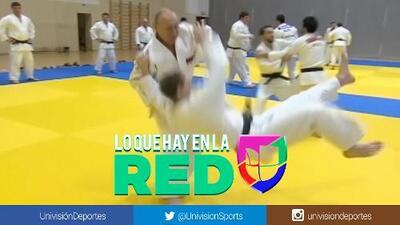 ¡De estirpe olímpica! Vladimir Putin presume sus movimientos de judo a sus 66 años