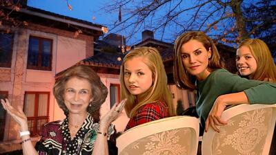 Este es el palacio de Letizia (y las fotos de su vida con las princesas) donde 'cierran la puerta' a la reina Sofía