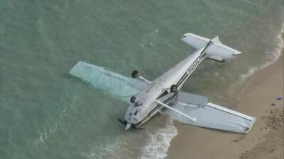 Avioneta se accidenta en la playa del parque Haulover