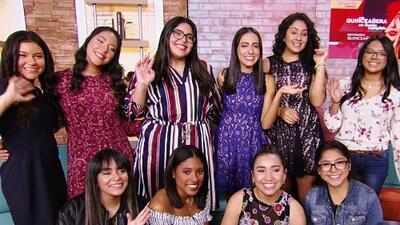 Las participantes de 'Quinceañera: un sueño cumplido' recibieron grandes consejos en su visita por Univision