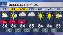 Se espera lluvia dispersa en varias zonas de la isla para este viernes