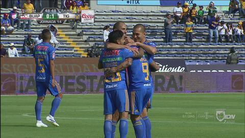 Con estos tres goles, Tigres derrotó en condición de visitante a Lobos BUAP