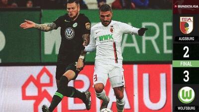 Augsburgo 2-3 Wolfsburgo - GOLES Y RESUMEN – Jornada 17 - Bundesliga