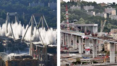 Fotografías interactivas: así es el nuevo puente de Génova, una estructura que colapsó hace dos años dejando decenas de fallecidos