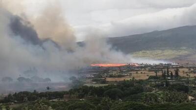 El huracán Lane provoca inundaciones e incendios en Hawaii
