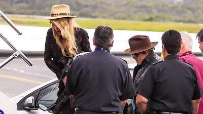 Johnny Depp y Amber Heard salen de Australia