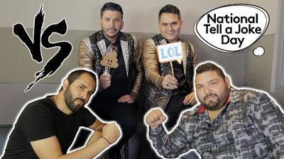 Banda Los Recoditos puso a prueba a Los Compadres del Free-guey show