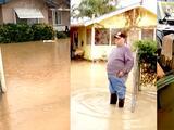 Con el agua casi hasta las rodillas terminan residentes del Valle debido a fuertes lluvias
