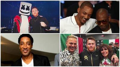 'Canelo' y las celebridades, un desfile de estrellas en la pelea ante Golovkin