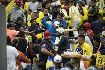 La violencia empañó la final entre América y Cruz Azul en el Estadio Azteca