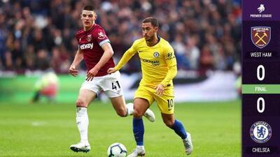 Sin 'Chicharito', West Ham sacó un valioso empate ante Chelsea