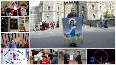 Hasta los perros celebraron el nacimiento del primer hijo de Meghan Markle y el príncipe Harry