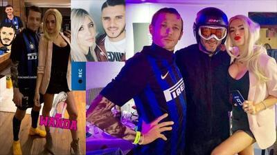 Afamado deportista y su novia se disfrazan de Mauro Icardi y Wanda Nara para el carnaval