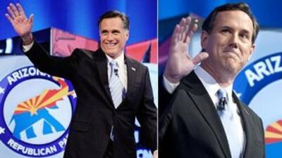 Mitt Romney ganó primarias de Arizona y Michigan