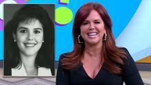 María Celeste Arrarás se emocionó con las imágenes de sus trabajos (y los peinados) de sus inicios en televisión