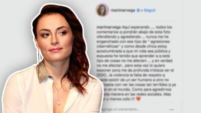 Marimar Vega publica una foto y le advierte a los 'haters' que espera sus comentarios llenos de odio
