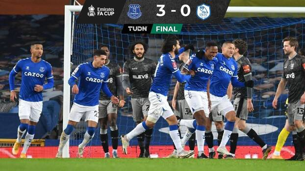 Everton goleó al Sheffield Wednesday y avanzó en la FA Cup