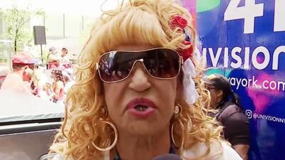 """""""Feliz de la vida"""", Fefita La Grande celebró ser parte del desfile dominicano en Nueva York"""