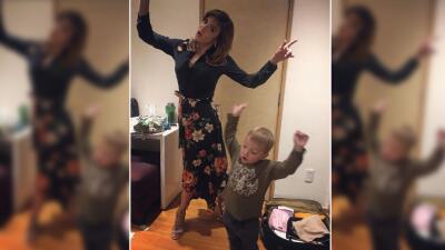 Silvia Navarro se divierte con su 'hijo postizo' detrás de cámaras
