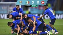 Italia supera a Suiza y es el primer clasificado a los Octavos