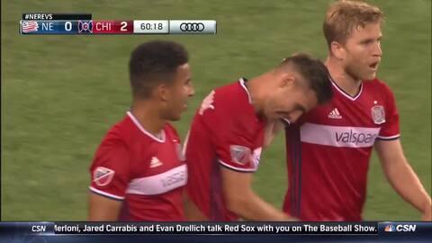 Argentino Luis Solignac sigue encendido y marca el segundo gol para Chicago