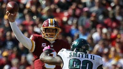 Los Redskins barrieron con los Eagles de Carson Wentz