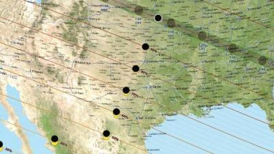 Así se verá el eclipse solar del 21 de agosto en Texas