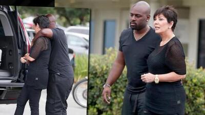 ¡Kris Jenner y Corey Gamble no se quitan las manos de encima!