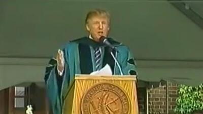 """""""Si hay un muro de cemento frente a ti, atraviésalo"""", el consejo de Trump que es usado en su contra"""