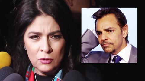Esta es la reacción de Victoria Ruffo cuando le preguntan por el talento de Eugenio Derbez
