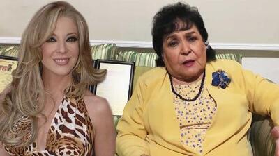 """Carmen Salinas visita la tumba de Edith González y aún no cree que esté """"metida en ese pozo"""""""