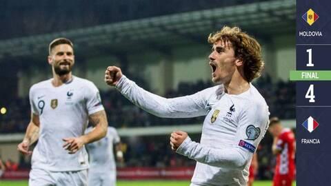 Moldavia 1-4 Francia - GOLES Y RESUMEN - ELIMINATORIAS  - Eurocopa 2020