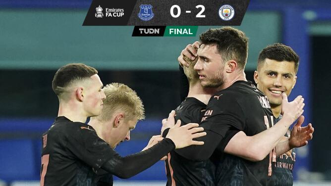 El City despacha al Everton y ya está en Semifinales de la FA Cup