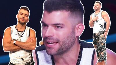 Sin chamarra: el momento en que Adrián di Monte mostró que es 'igualito' a Ricky Martin