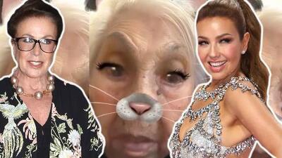 Laura Zapata hace un video al estilo Thalía y con la abuela de ambas (¿qué pensará la cantante?)