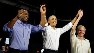 Los demócratas Andrew Gillum y Bill Nelson reciben espaldarazo político de Barack Obama