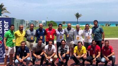 ¿Y Almeyda? Los técnicos de la Liga MX se toman la foto del recuerdo en el Draft 2018