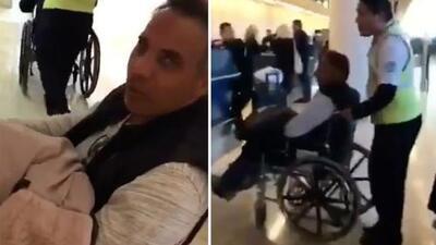 El esposo de Gelena Solano terminó en silla de ruedas al ver la congestión del aeropuerto de Cancún