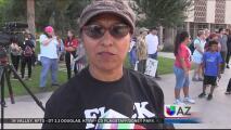 Manifestantes contra Donald Trump toman el capitolio estatal